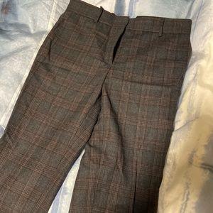 Sandro plaid wool trousers